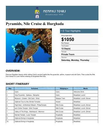 Pyramids, Nile Cruise & Hurghada - Memphis Tours Egypt
