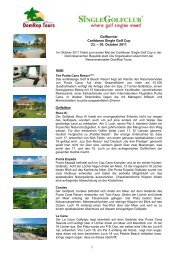 Golfturnier Caribbean Single Golf Cup 23. – 30 ... - Dom Rep Tours