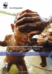 Freshwater and Poverty Reduction: Serving ... - WWF South Africa