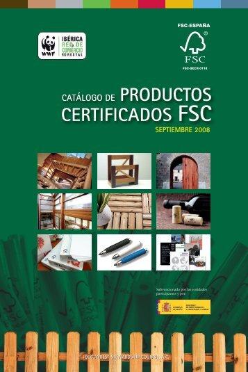 Catálogo de Productos Certificados FSC - WWF