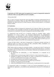 Transposición de la Directiva Marco de Aguas en España. - WWF