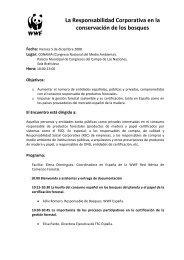 La Responsabilidad Corporativa en la conservación de los ... - WWF