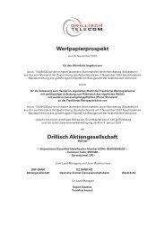 Wertpapierprospekt Drillisch Aktiengesellschaft  - Drillisch AG