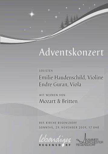 Adventskonzert - Lebendiges Regensdorf