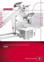 WARAN A RELIABLE PROCESS FOR DICING FROZEN MEAT: - Treif
