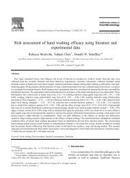 Risk assessment of hand washing efficacy using literature and ...