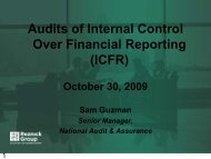 Audits of Internal Control Over Financial Reporting - CohnReznick