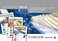 MEDIADATEN 2013 - Backtechnik