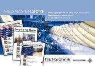 MEDIADATEN 2011 - Backtechnik