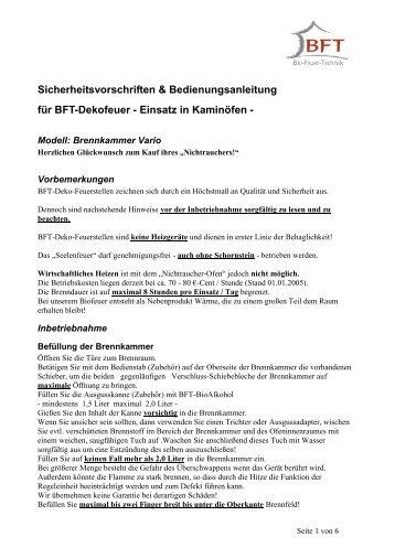 Bedienungsanleitung & Sicherheitshinweise (01/200 - BeeFire