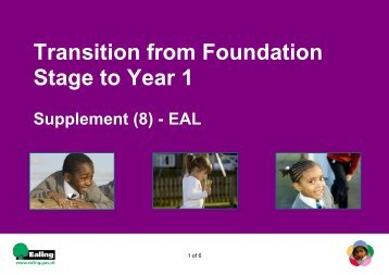 (8) – EAL - Children's Centres