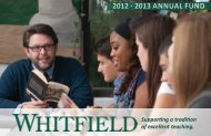 2012-2013 Annual Fund Brochure - Whitfield School