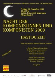 NACHT DER KOMPONISTINNEN UND KOMPONISTEN 2009 - IGNM