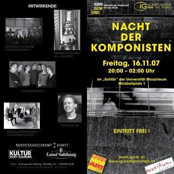 Folder - IG Komponisten