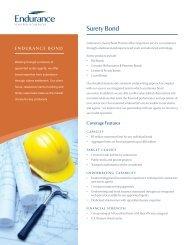 Surety Bond - Endurance Specialty Insurance Ltd.