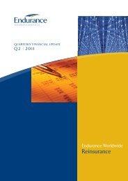 Endurance Worldwide Reinsurance - Q2 2011 Financial Highlights