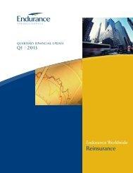 Reinsurance - Endurance Specialty Insurance Ltd.