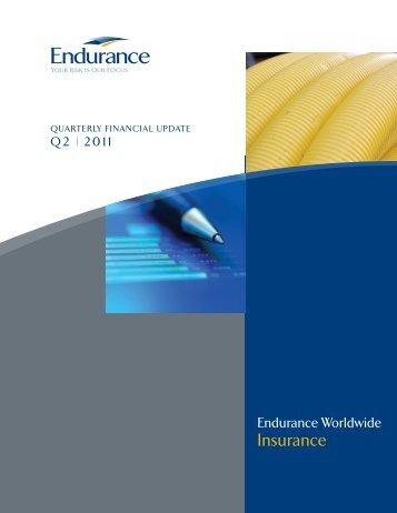 Endurance Worldwide Insurance - Q2 2011 Financial Highlights