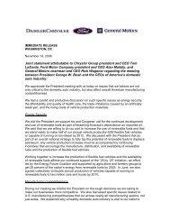 Joint statement attributable to Chrysler Group president ... - DetNews
