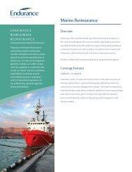 Marine Reinsurance - Endurance Specialty Insurance Ltd.