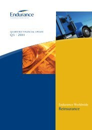 Endurance Worldwide Reinsurance - Q3 2011 Financial Highlights