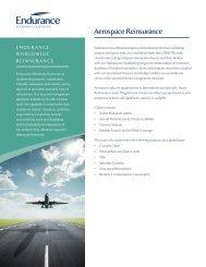 Aerospace Reinsurance - Endurance Specialty Insurance Ltd.