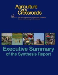 Executive Summary - The International Assessment of Agricultural ...