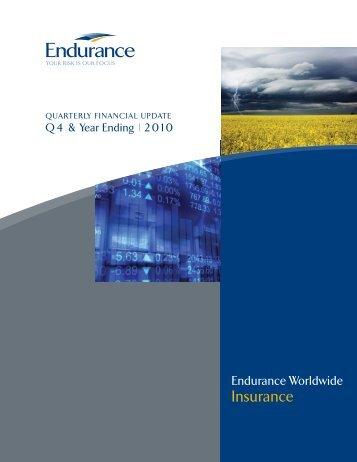 Q4 2010 Financial Highlights - Endurance Specialty Insurance Ltd.