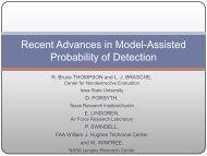 Recent Advances in MAPOD - Center for Nondestructive Evaluation ...