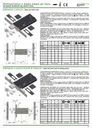 Elettroserrature a doppia mappa per fasce - Rora Distribuzioni