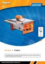Tile Saw TT250 G - Norton Construction Products