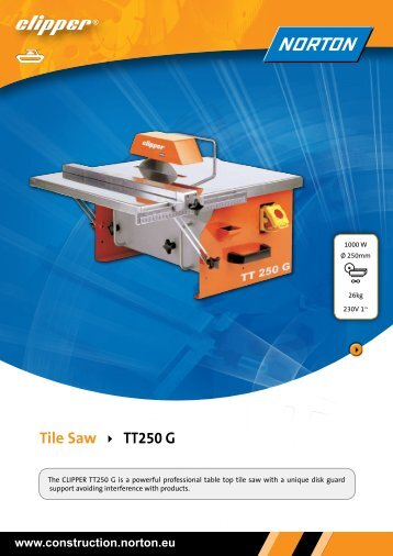 Tile Saw TT250 G - Norton Construction Products