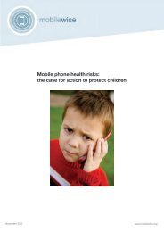 Mobile phone health risks: the case for action to protect children - EZU