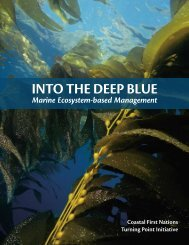 INTO THE DEEP BLUE - Coastal First Nations