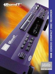 HHB CDR 830 Brochure - Advanced Audio
