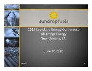 Sundrop 2012 LEC presentation - LouisianaEnergyConference.com