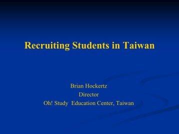 Taiwan Market - Overview - Australia New Zealand Agent Workshop