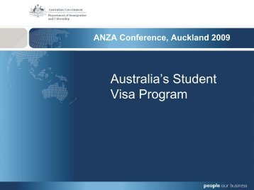 Australia's Student Visa Program - Australia New Zealand Agent ...