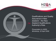 Qualifications and Quality Assurance in New Zealand - Presentation ...