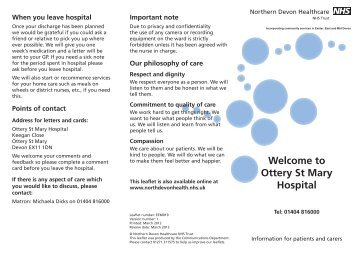 Ottery St Mary Hospital - Northern Devon Healthcare NHS Trust NDHT
