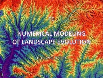 TD: Numerical Modeling of Landscape Evolution