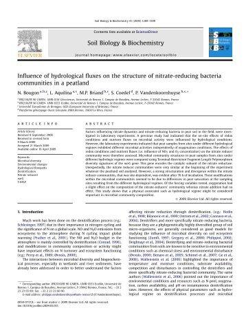 Pauwels 2010 ag isotopes bretagne g osciences rennes for Soil biology and biochemistry