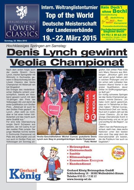 Denis Lynch gewinnt Veolia Championat