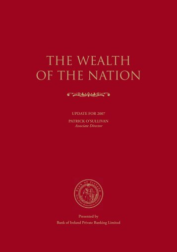 THE WEALTH OF THE NATION
