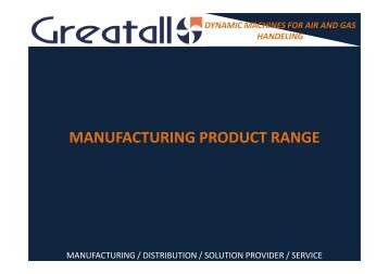 manufacturing product range manufacturing product range
