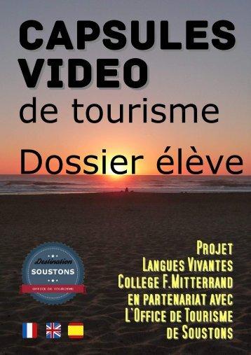 Capsules Vidéo de Tourisme - Dossier Elève