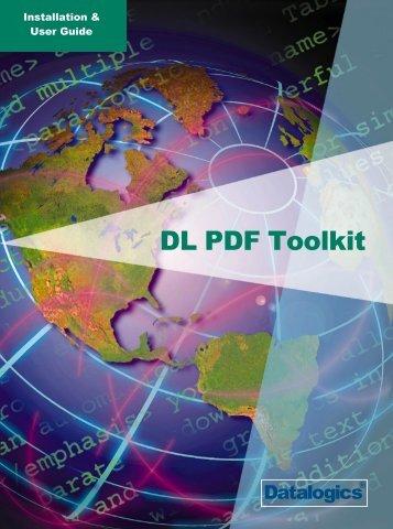 DL PDF Toolkit User Guide - Datalogics