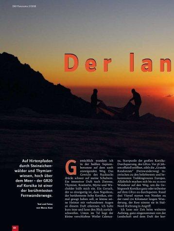 Der lange Marsc - Deutscher Alpenverein