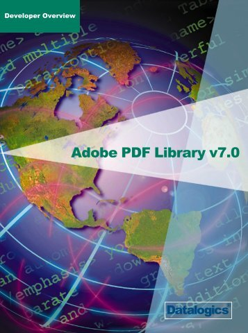 Adobe PDF Library Developer Overview - Datalogics