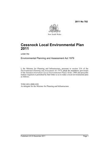 Cessnock Local Environmental Plan 2011